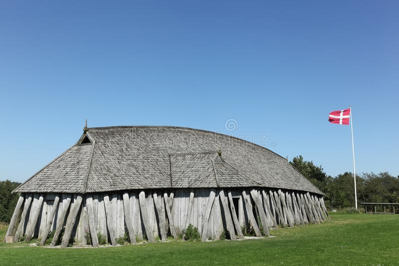 Casa de Viking na cidade de Hobro imagens de stock royalty free