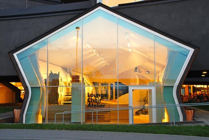 Casa de Vitra por Herzog e por de Meuron fotografia de stock