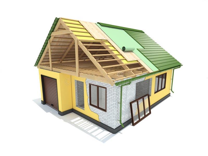 Casa de vivienda del edificio house stock de ilustración