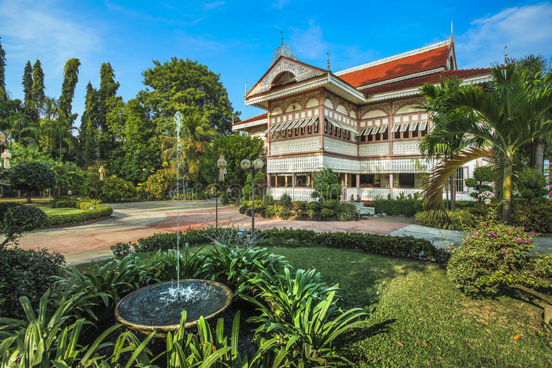 Casa de Wongburi en la provincia de los phrae, Tailandia. imagen de archivo libre de regalías