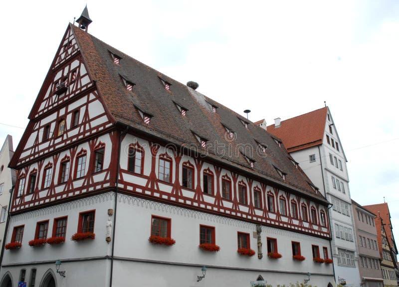 Casa de Ypical en la ciudad de Nordlingen en Germaniania imagen de archivo