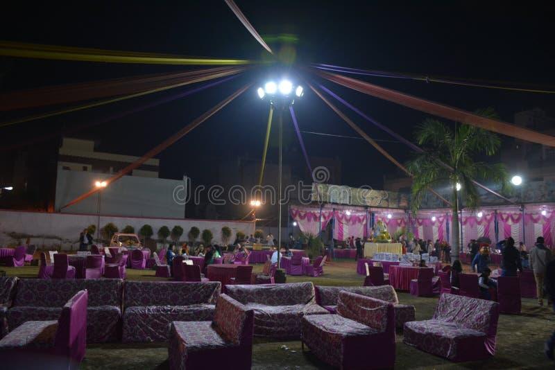 Casa decorata di matrimonio sposare immagini stock libere da diritti