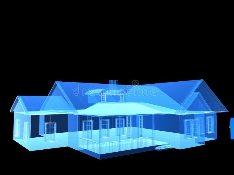 Casa dei raggi X illustrazione di stock