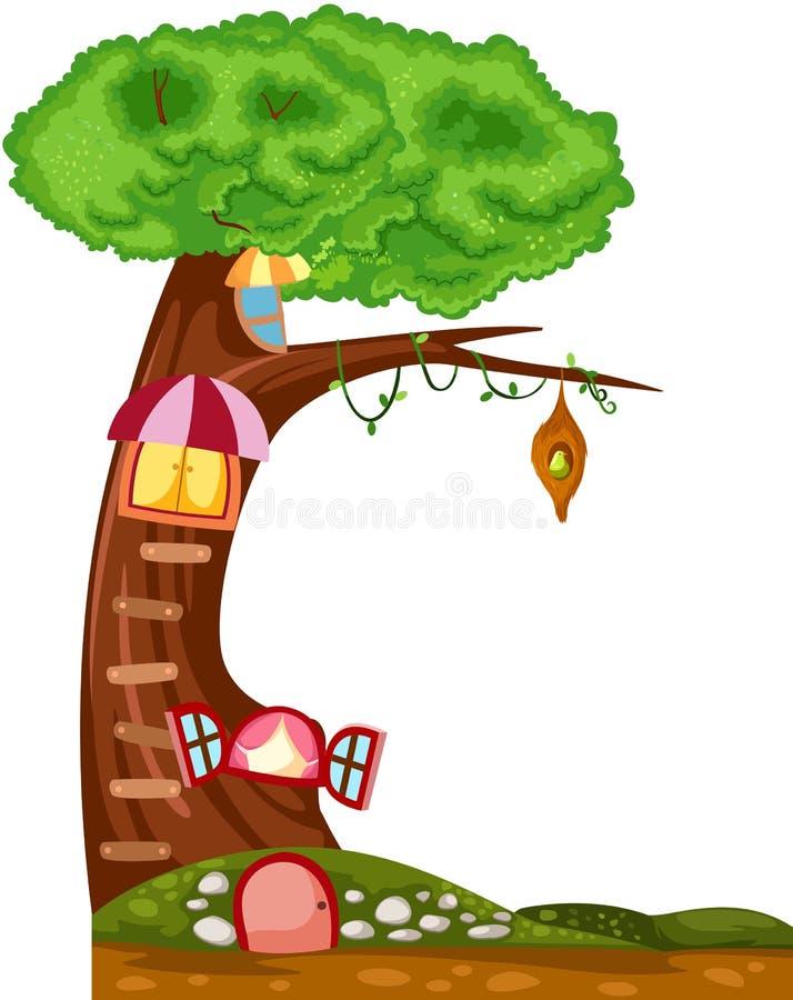Casa del árbol libre illustration