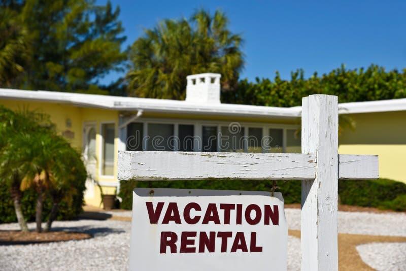 Casa del alquiler de las vacaciones fotografía de archivo