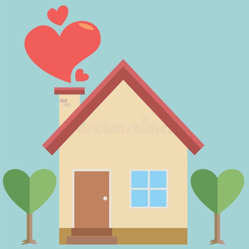 casa del amor ilustraci n del vector ilustraci n de. Black Bedroom Furniture Sets. Home Design Ideas