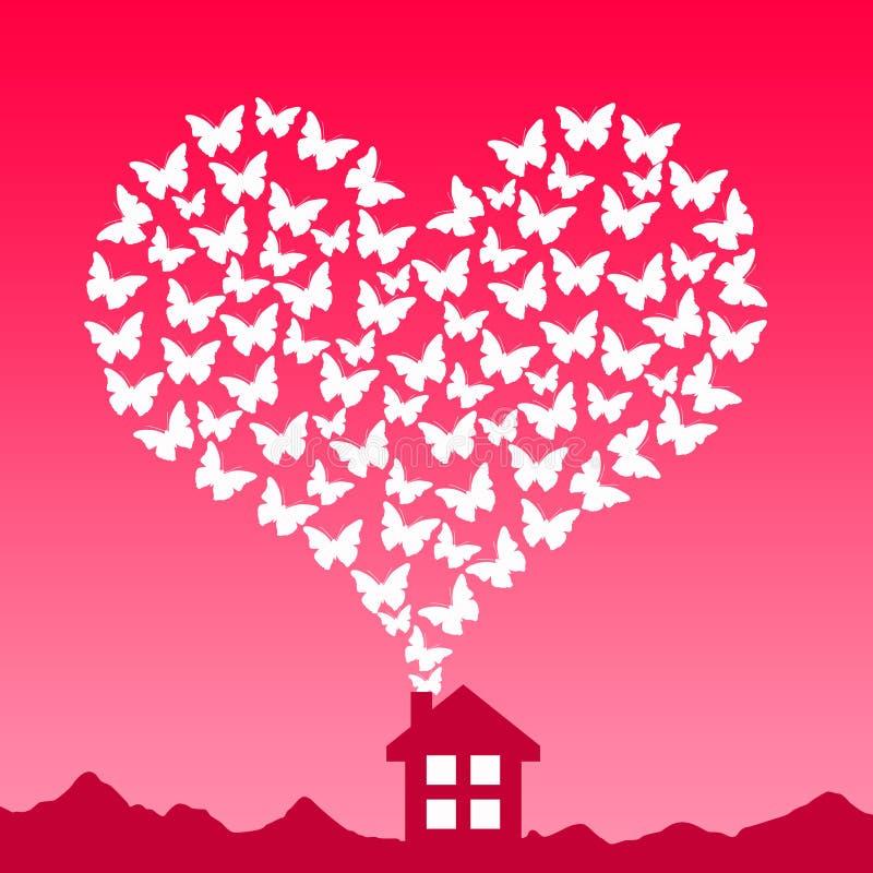 Casa del amor stock de ilustración
