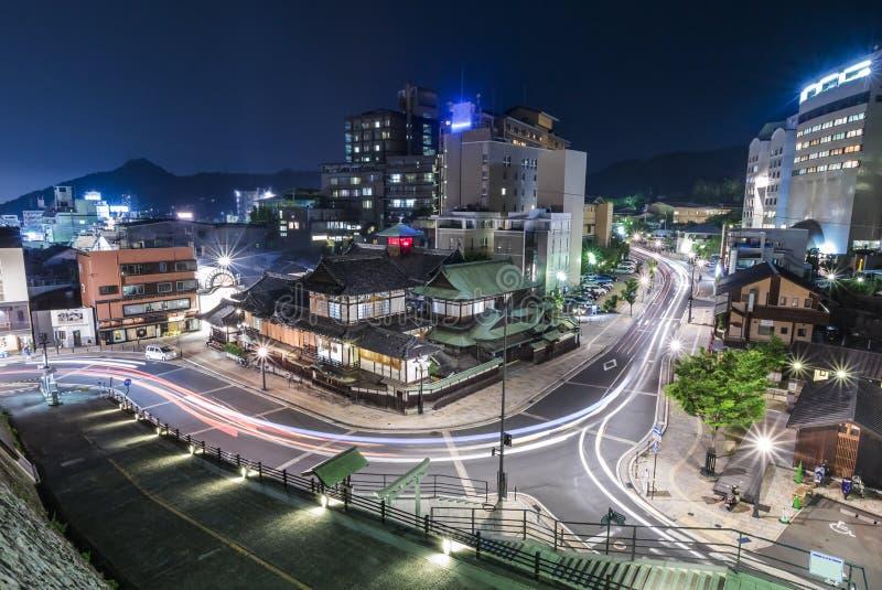 Casa del baño de la fuente termal de Dogo Onsen en Matsuyama imágenes de archivo libres de regalías