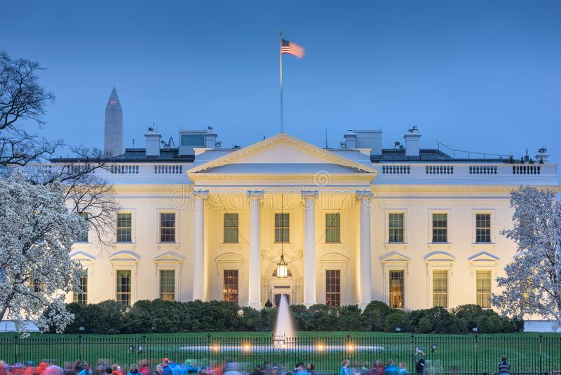 Casa del blanco del Washington DC fotografía de archivo libre de regalías