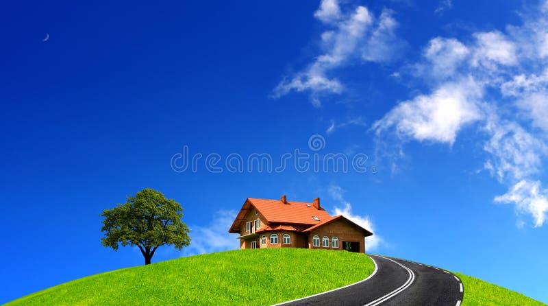 Casa del camino imagen de archivo