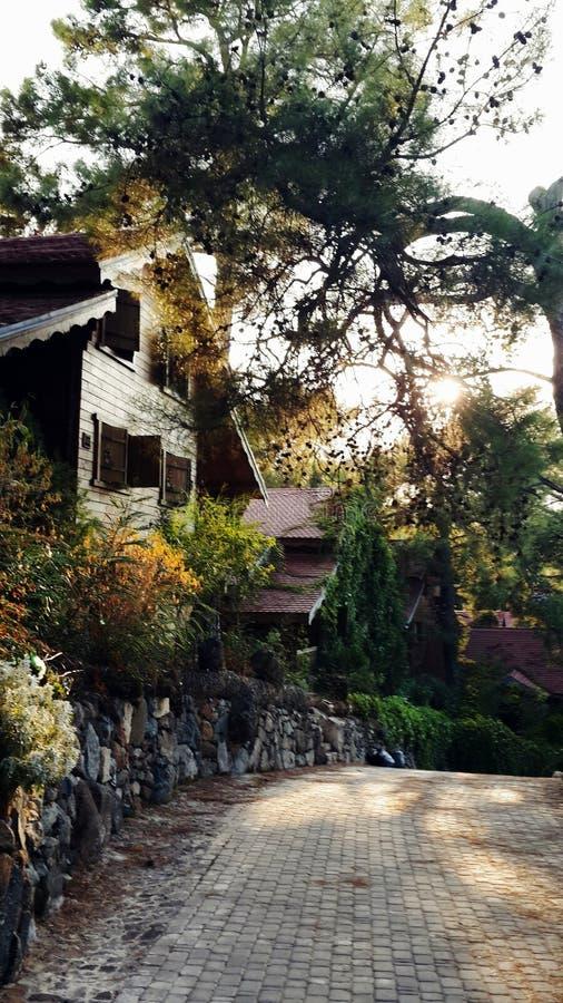 Casa del camino foto de archivo libre de regalías