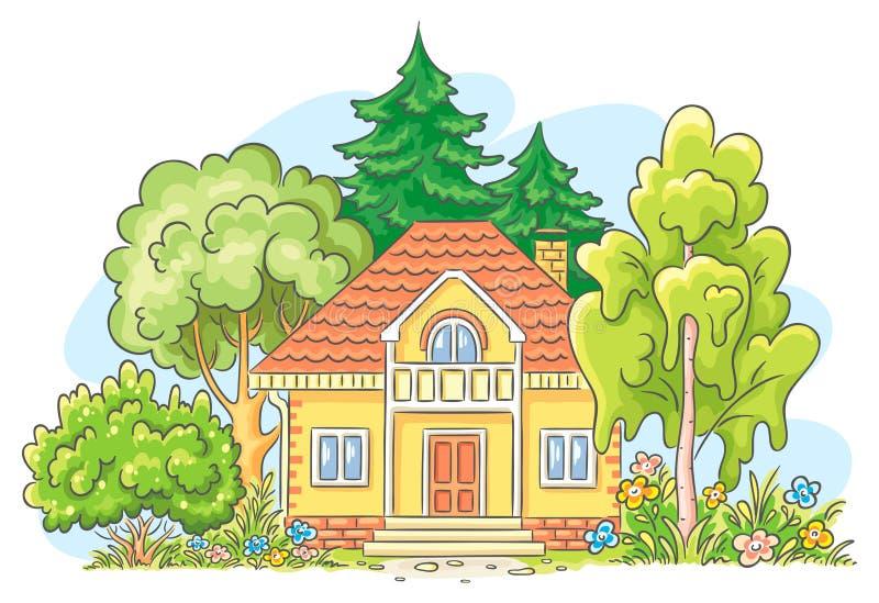 Casa del campo stock de ilustración