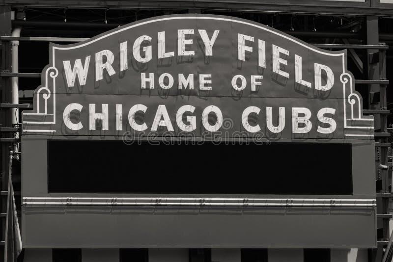 Casa del campo di Wrigley dei Chicago Cubs con lo spazio II della copia fotografia stock