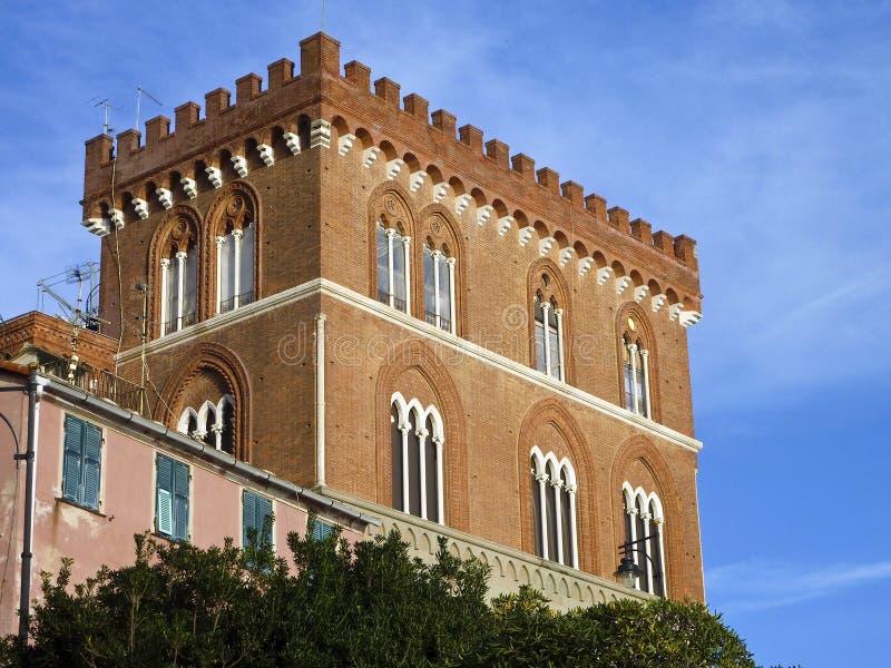 Casa del castello fotografia stock libera da diritti