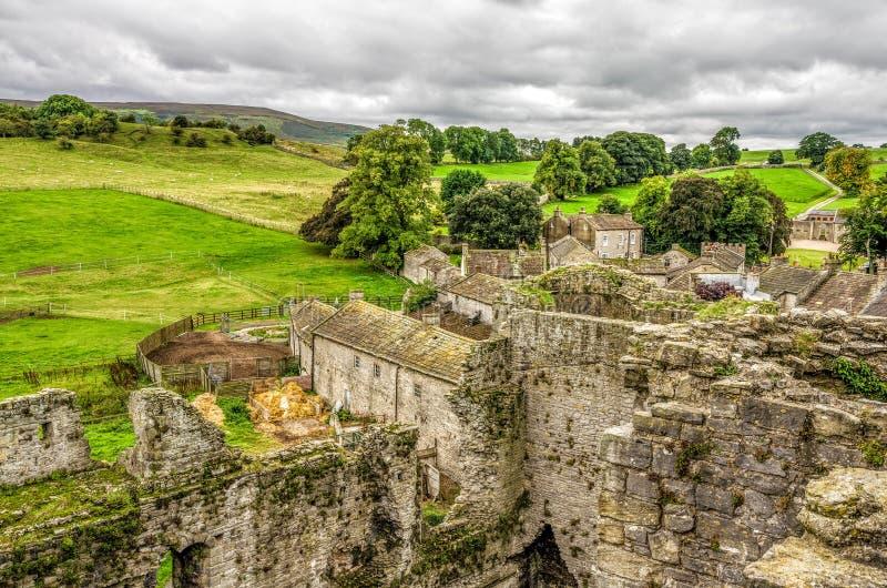 Casa del castello di Middleham della famiglia di Neville fotografie stock