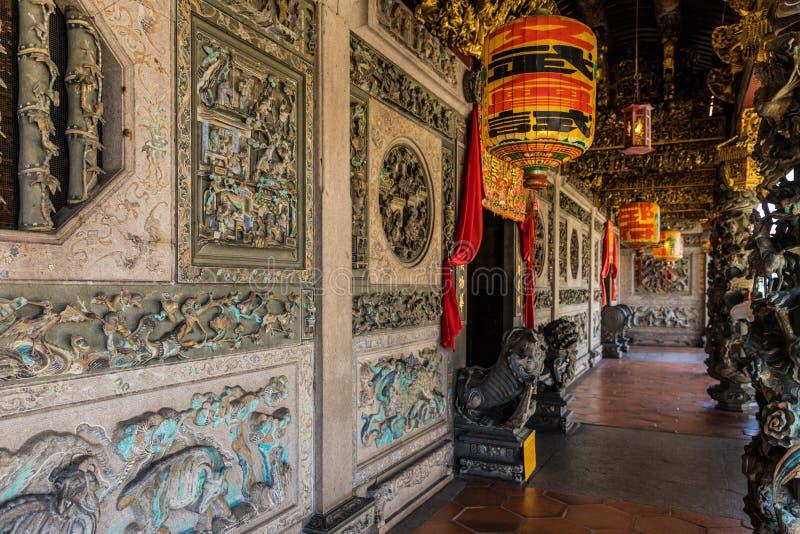 Casa del clan di Khoo Khongsi in George Town Malaysia fotografie stock libere da diritti