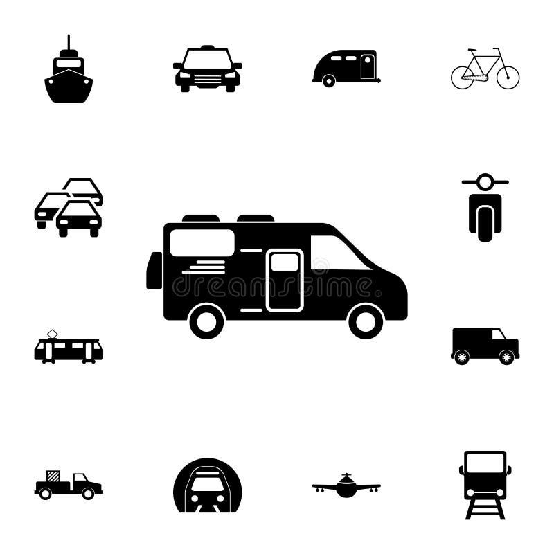 casa del coche en icono de las ruedas Sistema detallado de iconos del transporte Muestra superior del diseño gráfico de la calida ilustración del vector