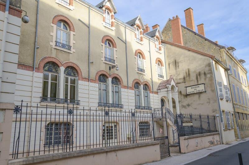 Casa del corazón sagrado, Paray-le-Monial, Francia imágenes de archivo libres de regalías