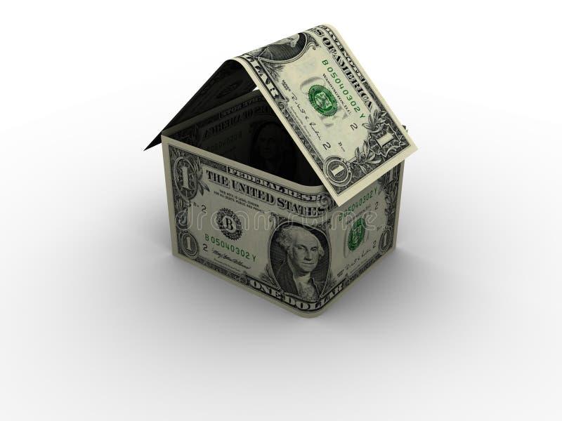 Casa del dólar en 3d foto de archivo