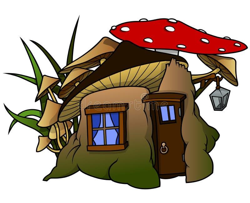 Casa del duende ilustración del vector