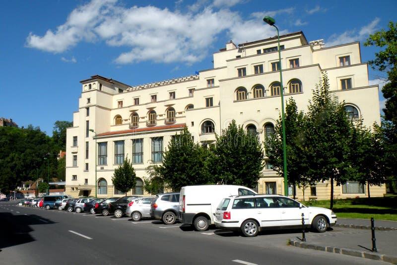 Casa del ejército Ajardine en la ciudad Brasov (Kronstadt), en Transilvania imagen de archivo libre de regalías