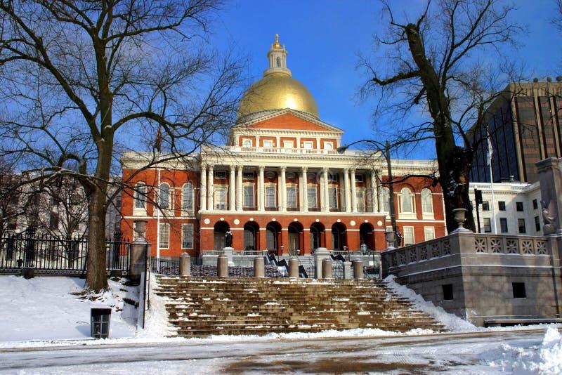 Casa Del Estado De Massachusetts Imágenes de archivo libres de regalías