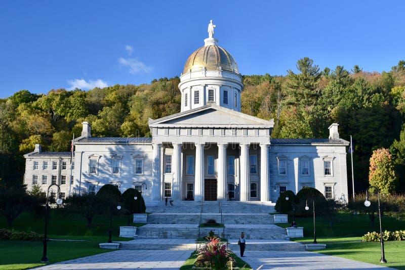 Casa del estado de Vermont foto de archivo