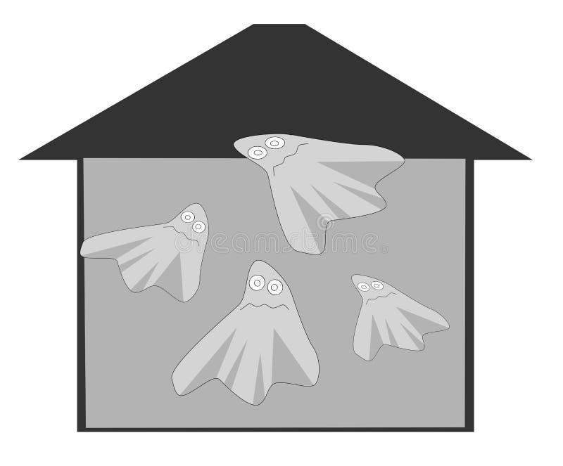Casa del fantasma imagen de archivo libre de regalías