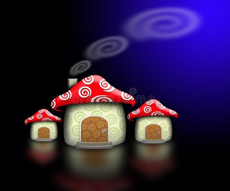 Casa del fungo fotografia stock