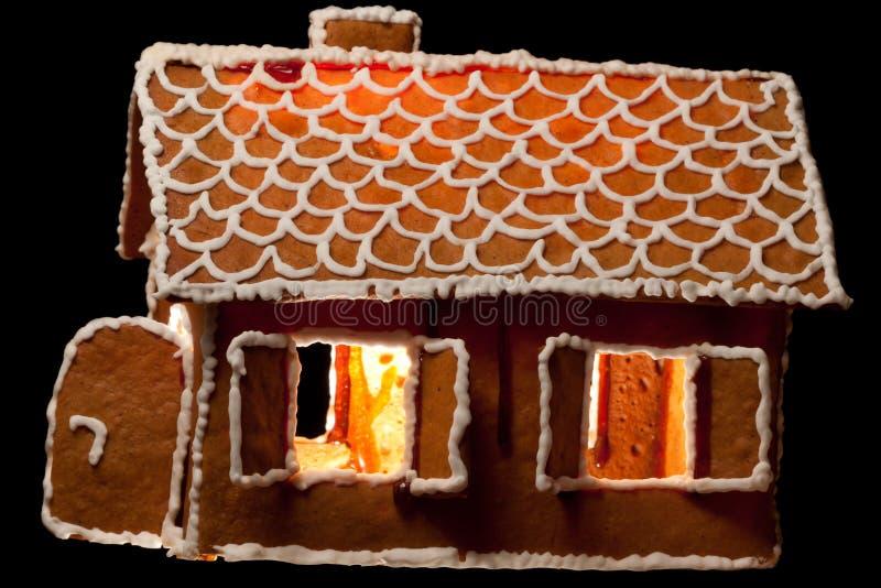 Casa del gingernut di natale immagini stock