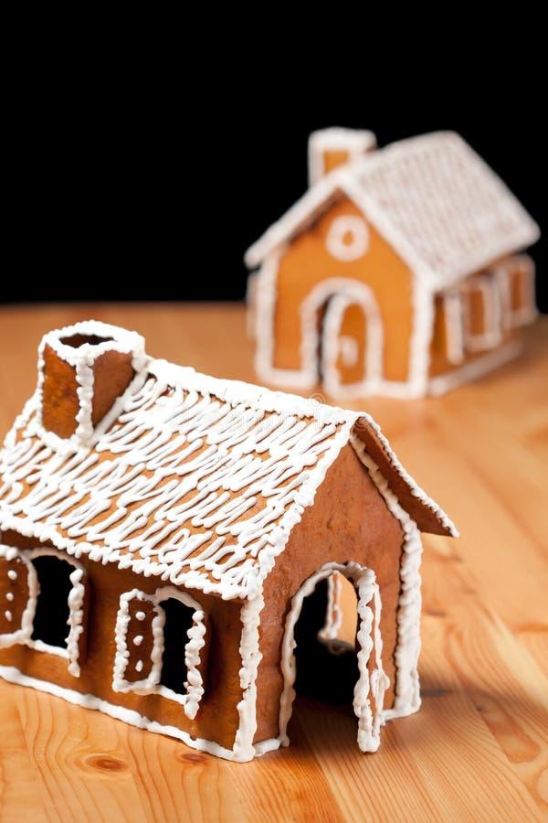 Casa del gingernut di natale fotografia stock libera da diritti