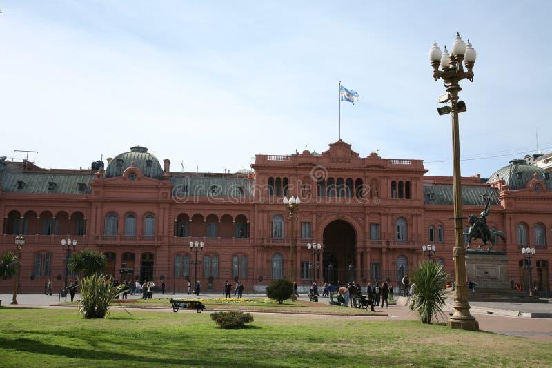 Casa del gobierno de Rosada de las casas fotografía de archivo libre de regalías