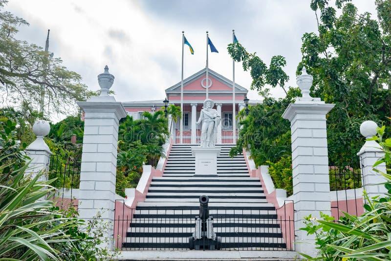 Casa del gobierno en Nassau, Bahamas imágenes de archivo libres de regalías