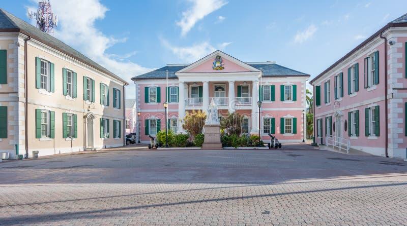 Casa del gobierno en Nassau, Bahamas fotografía de archivo