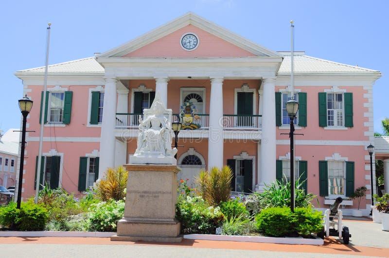 Casa del gobierno en Nassau en Bahamas fotos de archivo