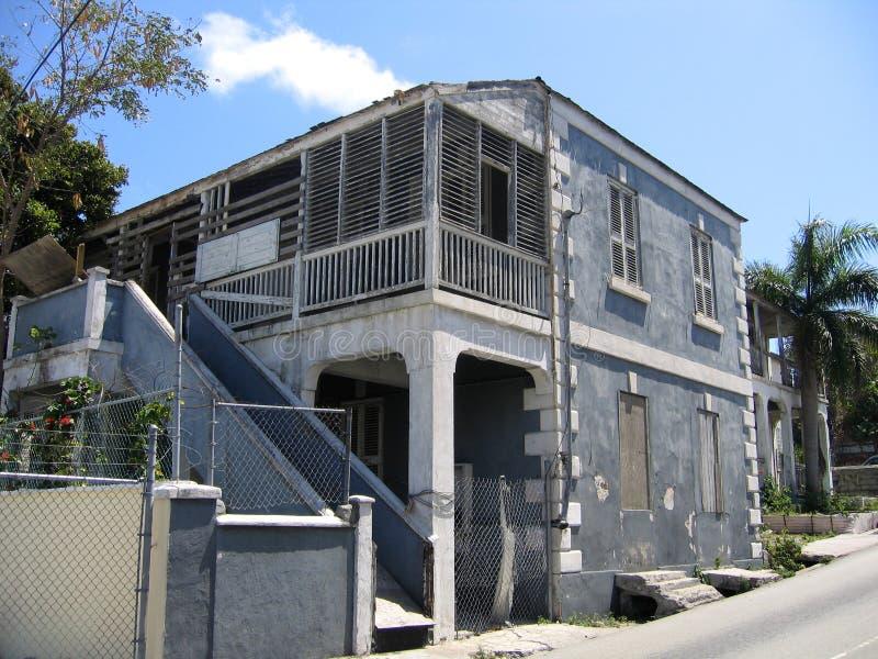 Casa del gris de Nassau Bahamas foto de archivo libre de regalías