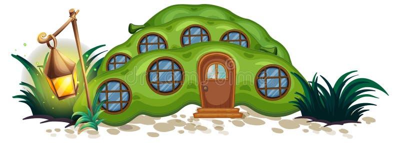 Casa del guisante con las ventanas redondas stock de ilustración