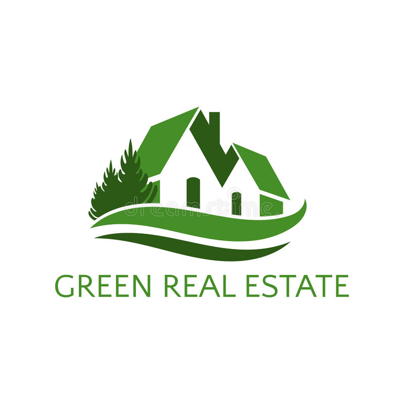 Casa del icono para el ejemplo del negocio de las propiedades inmobiliarias libre illustration