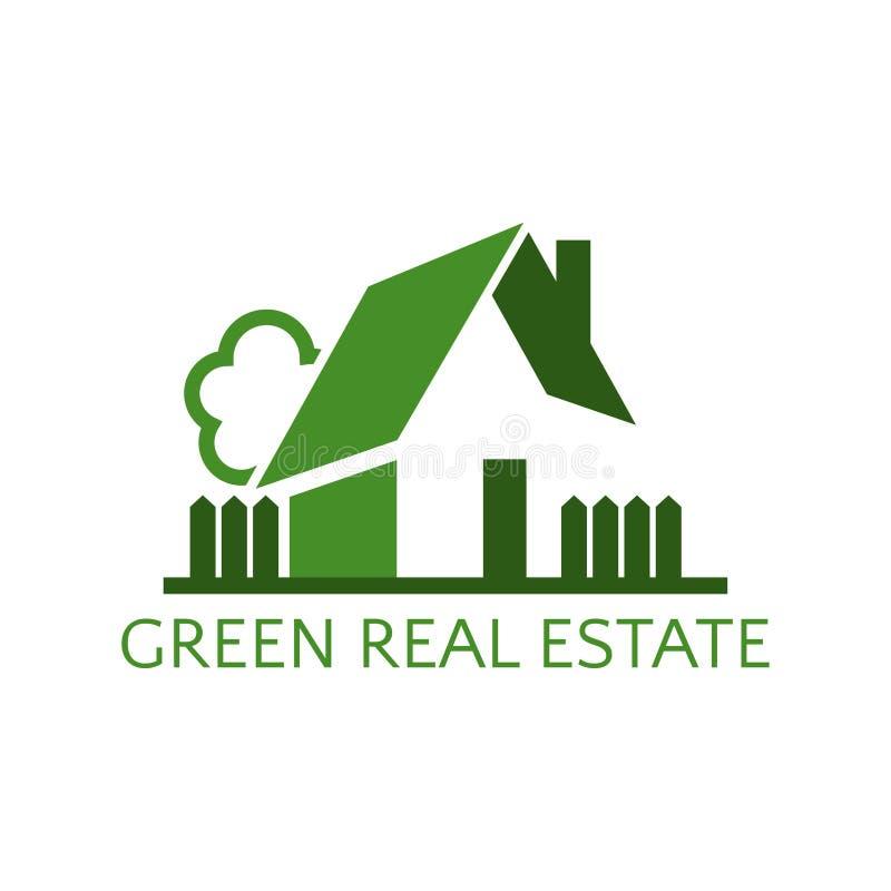 Casa del icono para el negocio de las propiedades inmobiliarias Ilustración stock de ilustración