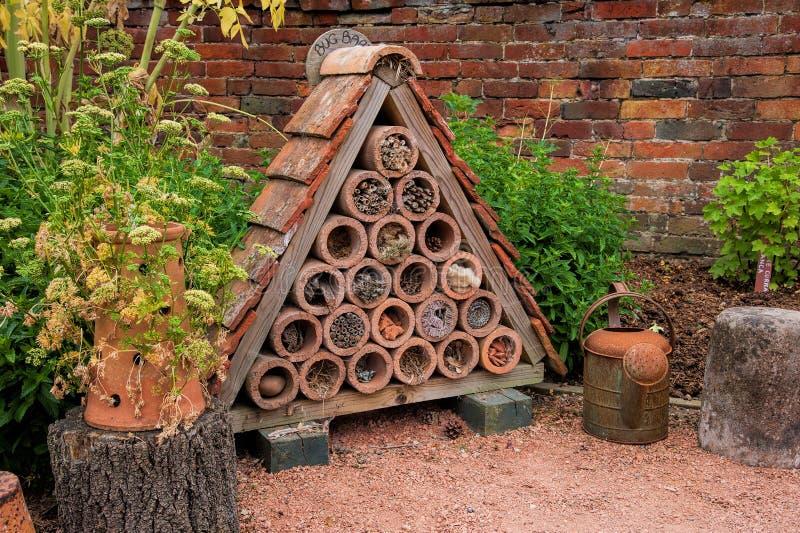 Casa del insecto o del insecto fotografía de archivo libre de regalías