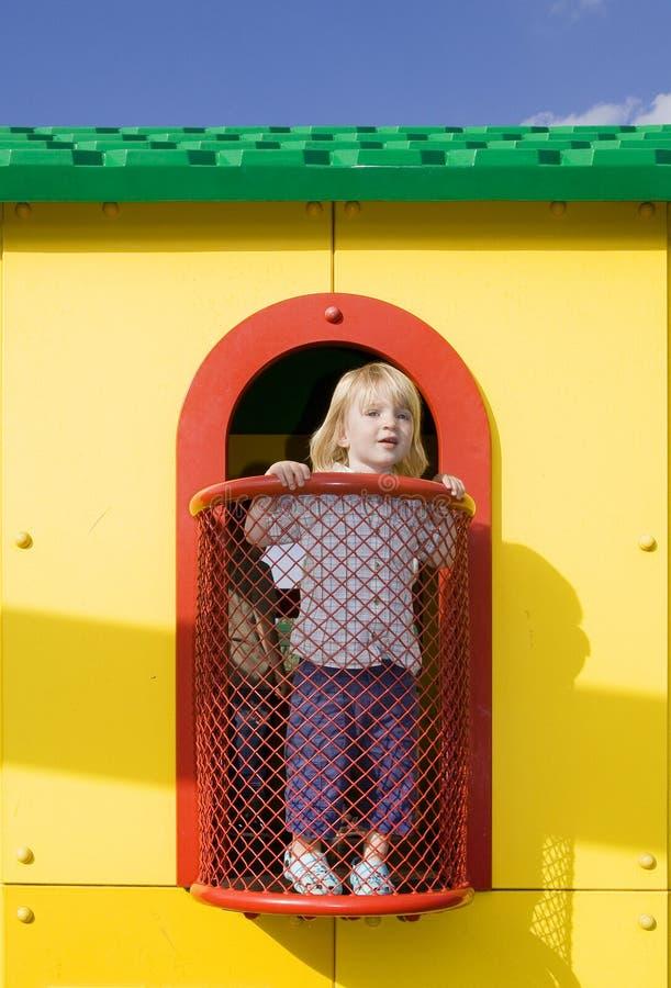 Casa del juego del patio fotografía de archivo libre de regalías