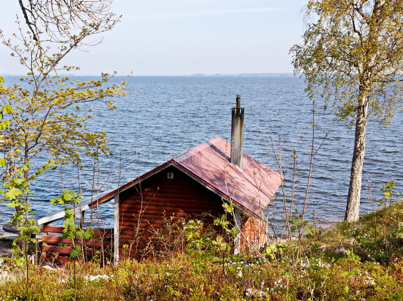 Casa del lago. foto de archivo