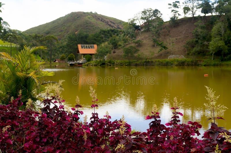Casa del lago en Teresopolis imágenes de archivo libres de regalías