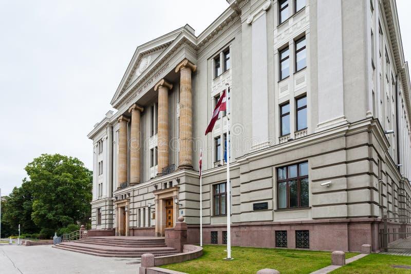 Casa del Ministerio de Asuntos Exteriores de Letonia imágenes de archivo libres de regalías
