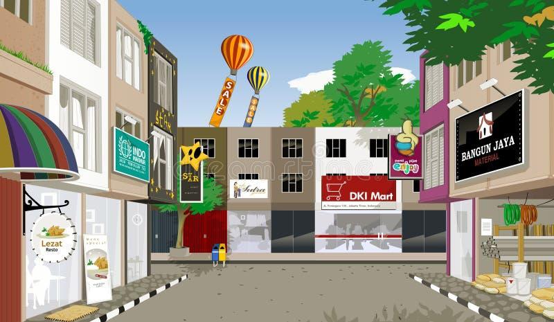 Casa del negozio royalty illustrazione gratis