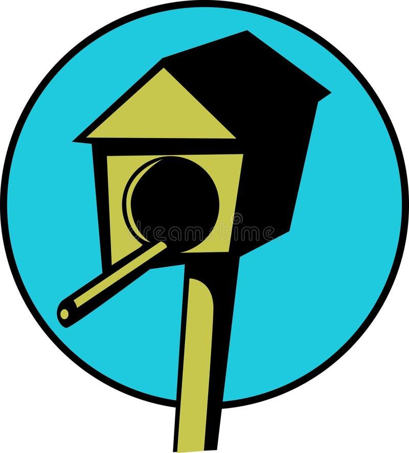 Casa del pájaro stock de ilustración