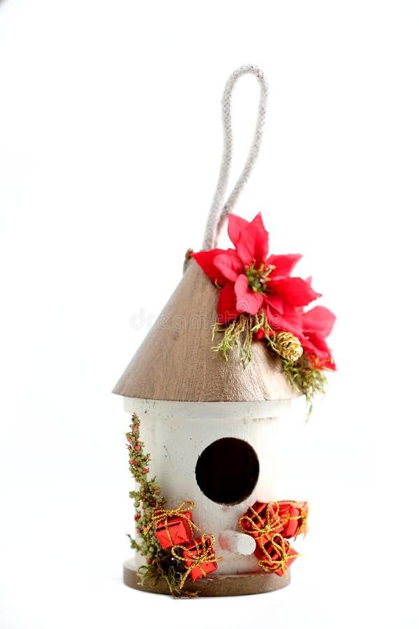 Casa del pájaro de la Navidad imágenes de archivo libres de regalías
