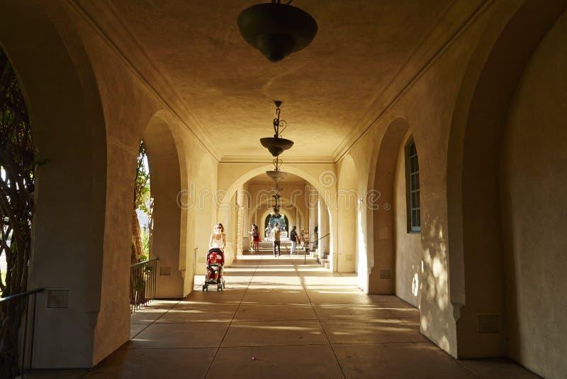 Casa del pasillo de la hospitalidad, parque del balboa, San Diego imagen de archivo