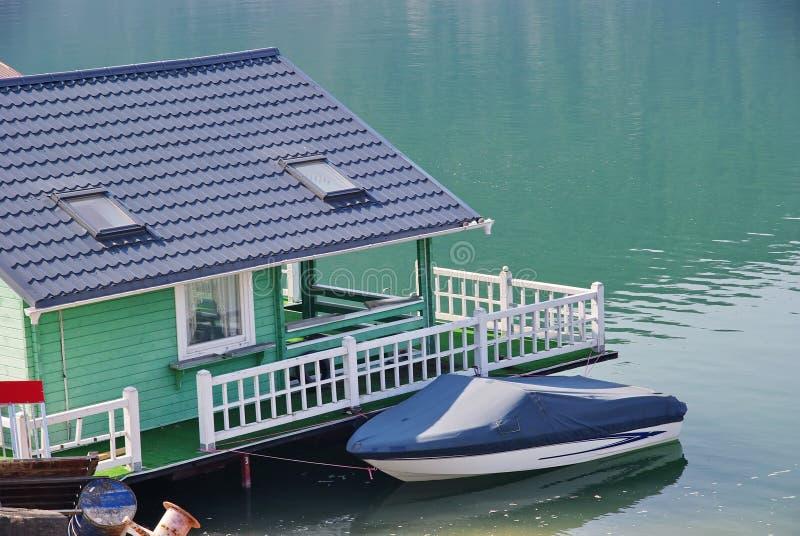 Casa del pontone immagine stock