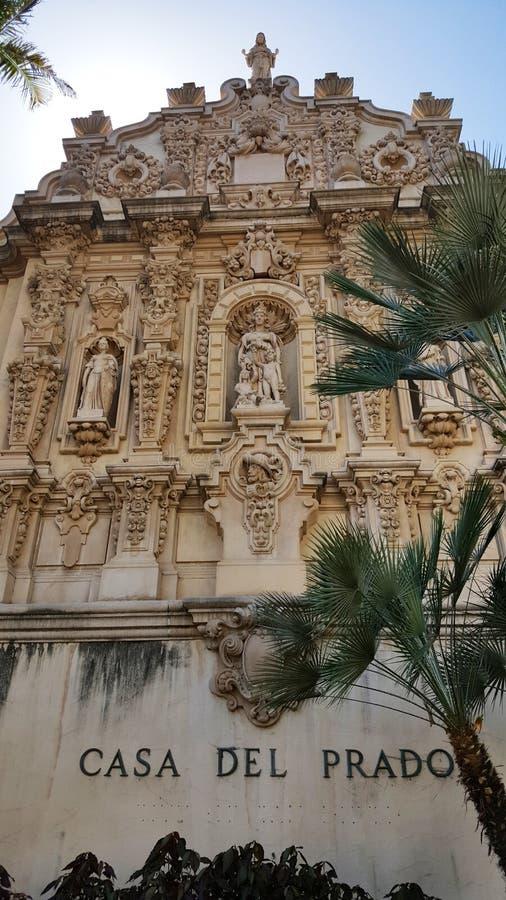 Casa del Prado στο πάρκο Σαν Ντιέγκο BALBOA στοκ εικόνα
